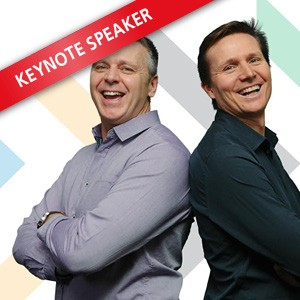 Steve Backley OBE & Roger Black MBE, Speaking at the Business Show